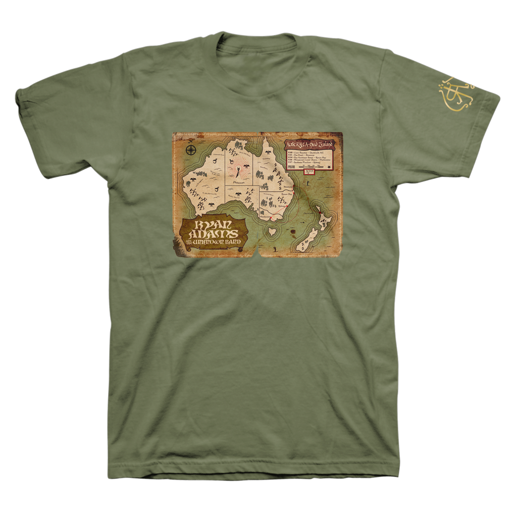 Australia + New Zealand 2017 Tour Tee - Ryan Adams