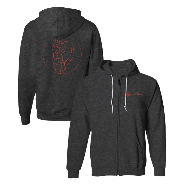 Stranger Hoodie (Charcoal Heather) - Ryan Adams