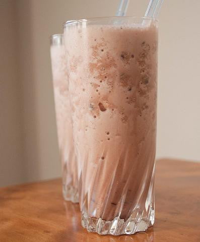 Chocolate Peanut Butter Flaxseed Smoothie
