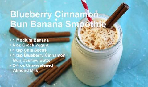 Blueberry Cinnamon Bun Banana Smoothie