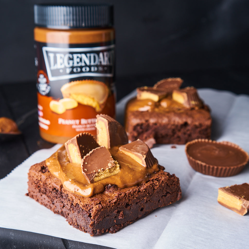 LEGENDARY FOODS Low Carb Peanut Butter Cup Brownies