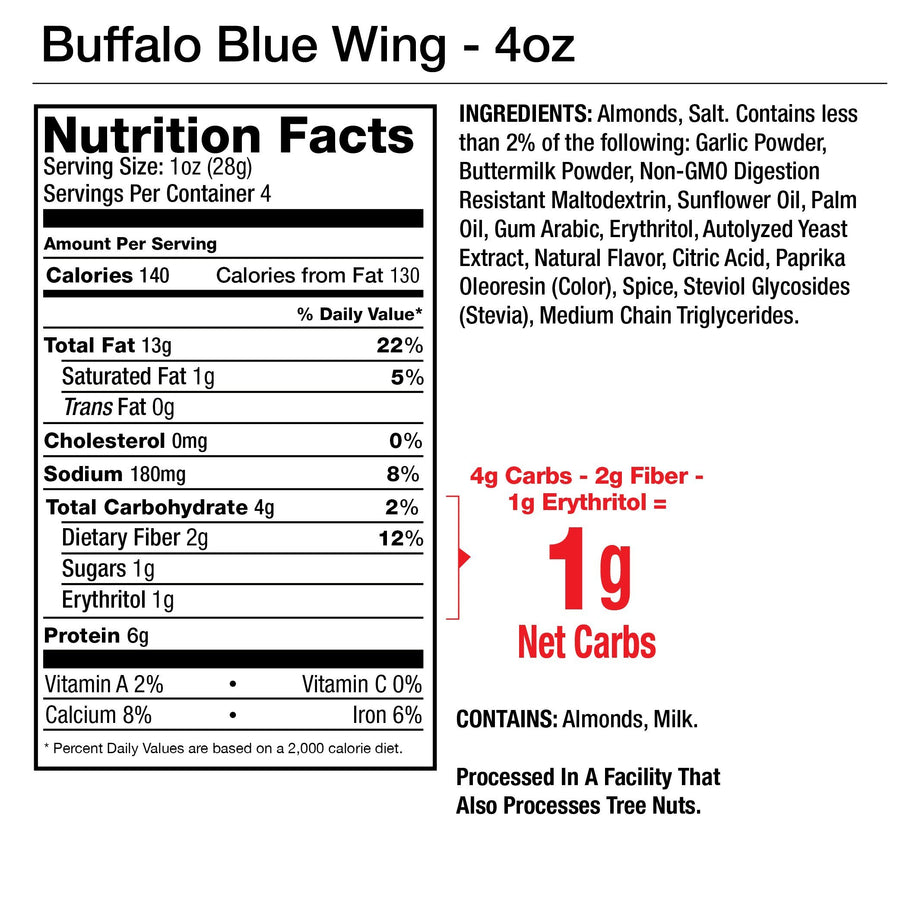 Buffalo Blue Wing Seasoned Almonds