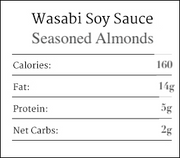 Wasabi Soy Sauce Seasoned Almonds