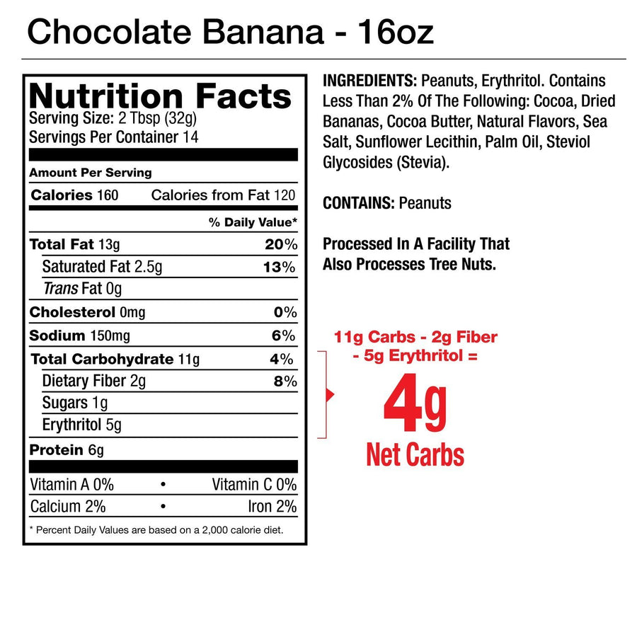 Chocolate Banana Flavored Peanut Spread 1oz - 10 packets