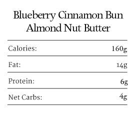 Blueberry Cinnamon Bun Nut Butter 1oz - 10 packets
