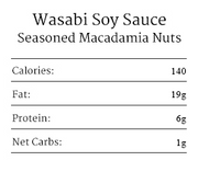 Wasabi Soy Sauce Seasoned Macadamia Nuts