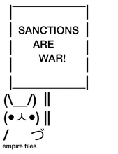 SANCTIONS ARE WAR Empire Files Bunny Tee