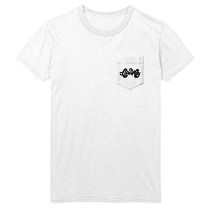 Loves Way Unisex White Pocket Tee - Jenny Lewis Store