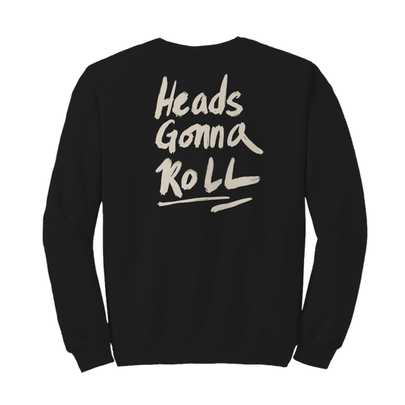 Heads Gonna Roll Crewneck - Black - Jenny Lewis Store