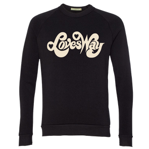 Loves Way Unisex Sweatshirt (Black) - Jenny Lewis Store