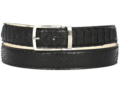 Paul Parkman Men's Genuine Python (snakeskin) Belts - foodgles-supermarkets