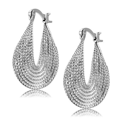 Designer Inspired Women's Rhodium Earrings - foodgles-supermarkets