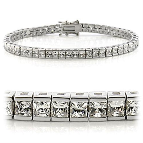 Designer Inspired Rhodium Tennis Bracelet - foodgles-supermarkets