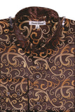 Daniel Ellissa Elegant Scroll Designer Shirt - foodgles-supermarkets
