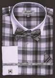 Fratello Shirt With Bow Tie + Hankie + Cuff Links - foodgles-supermarkets