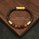 Braided Leather, Stainless Steel & Natural Stone Bracelets - foodgles-supermarkets