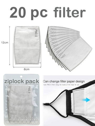 PM2.5 Activated Carbon Disposable Filter (For Reusable Masks) - foodgles-supermarkets