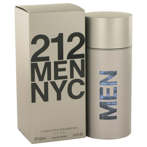 212 by Carolina Herrera Eau De Toilette Spray (New Packaging) 3.4 oz for Men - foodgles-supermarkets