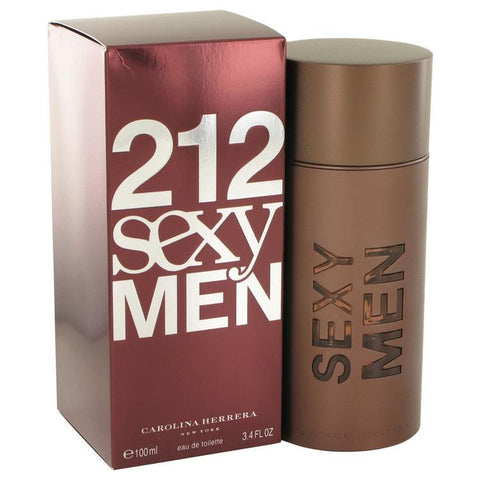 212 Sexy by Carolina Herrera Eau De Toilette Spray 3.3 oz for Men - foodgles-supermarkets