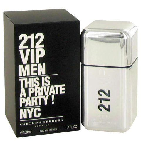 212 Vip by Carolina Herrera Eau De Toilette Spray 1.7 oz for Men - foodgles-supermarkets