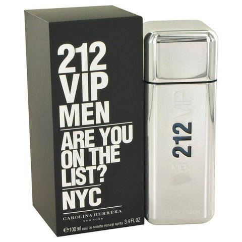 212 Vip by Carolina Herrera Eau De Toilette Spray 3.4 oz for Men - foodgles-supermarkets