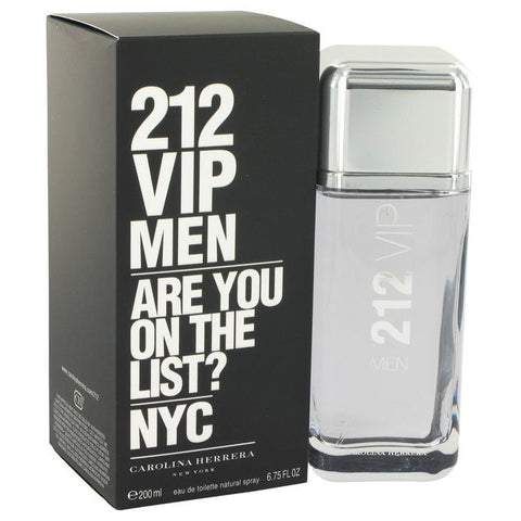 212 Vip by Carolina Herrera Eau De Toilette Spray 6.7 oz for Men - foodgles-supermarkets
