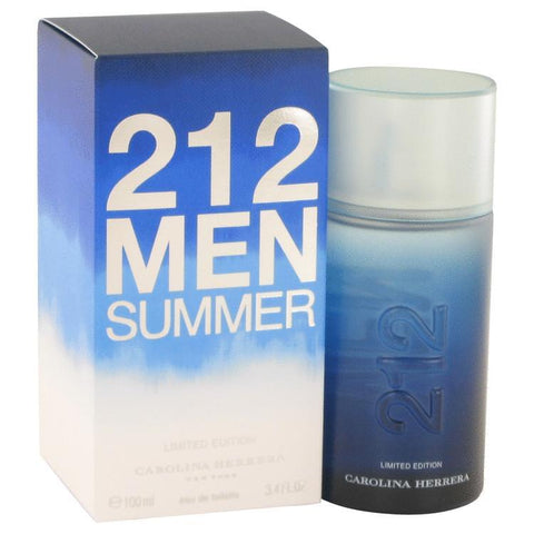 212 Summer by Carolina Herrera Eau De Toilette Spray (Limited Edition) 3.4 oz for Men - foodgles-supermarkets