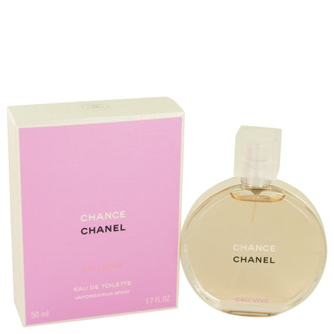 Chance Eau Vive by Chanel Eau De Toilette Spray 1.7 oz for Women - foodgles-supermarkets