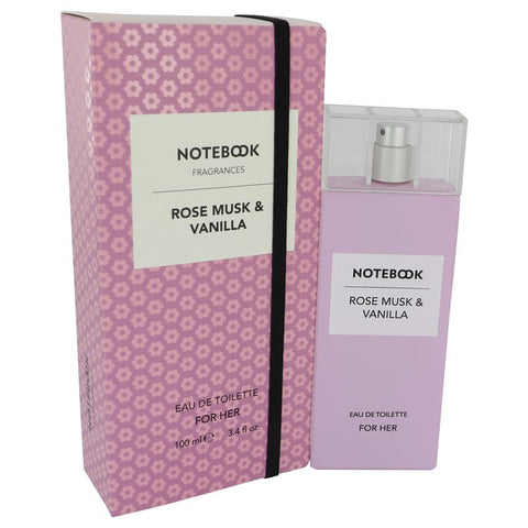 Notebook Rose Musk & Vanilla by Selectiva SPA Eau De Toilette Spray 3.4 oz for Women - foodgles-supermarkets