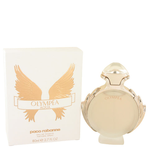 Olympea Aqua by Paco Rabanne Eau De Parfum Legree Spray 2.7 oz for Women - foodgles-supermarkets