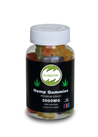 Foodglelife Essentials + Vegan Hemp Gummies With Pectin - 3000MG