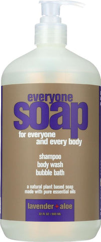 Eo Products: Everyone 3-in-1 Lavender + Aloe Soap, 32 Oz - foodgles-supermarkets