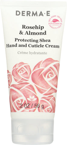 Derma E: Cream Hand Rosehip Almond, 2 Oz - foodgles-supermarkets
