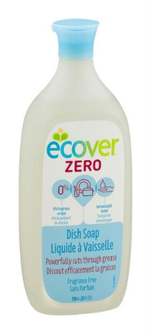 Ecover: Zero Liquid Dish Soap Fragrance Free, 25 Oz - foodgles-supermarkets