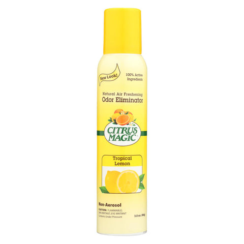 Citrus Magic Natural Odor Eliminating Air Freshener - Tropical Lemon - 3.5 Fl Oz - foodgles-supermarkets