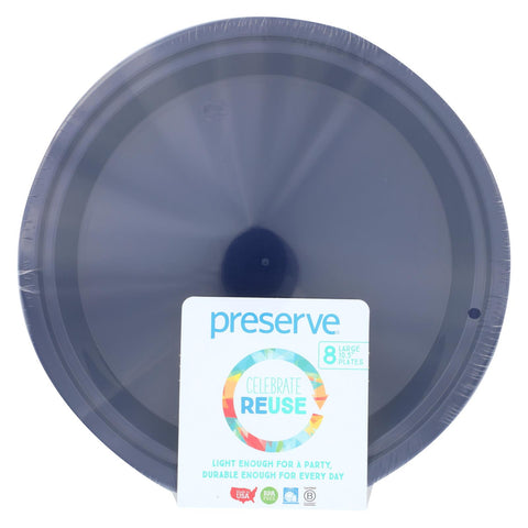 Preserve On The Go Large Reusable Plates - Midnight Blue - 8 Pack - 10.5 In - foodgles-supermarkets