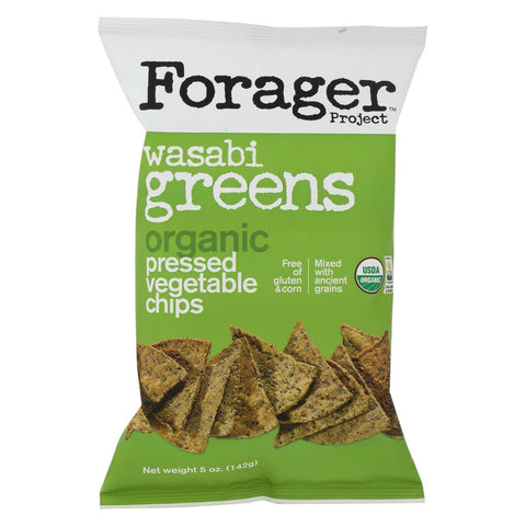 Forager Project Vegetable Chips - Wasabi Greens - Case Of 12 - 5 Oz. - foodgles-supermarkets