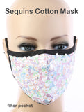 Chic Designer Style Sequin Face Mask - foodgles-supermarkets