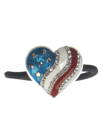 Red White & Blue Heart Shaped Hair Accessory - foodgles-supermarkets