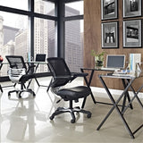 Modern Black Mesh Back Ergonomic Office Chair with Flip-up Arms - foodgles-supermarkets