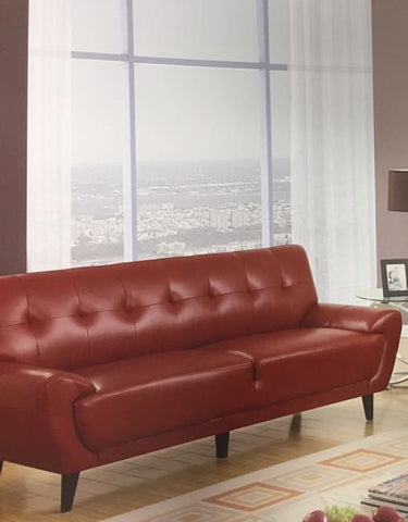 Contemporary Red Leather Living Room Set – Foodgles Marketplace