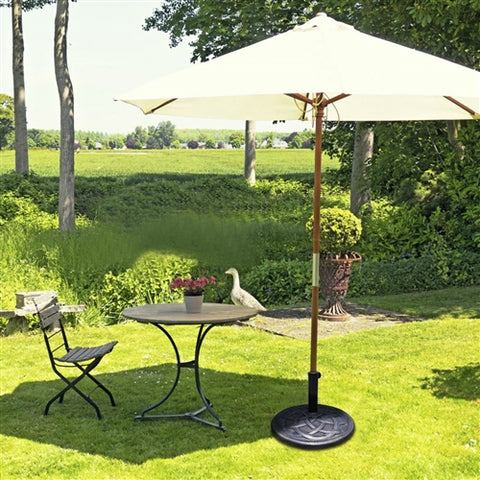 Bronze Finish Heavy Duty Outdoor Umbrella Base Stand - foodgles-supermarkets