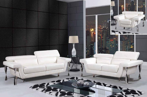 3 Piece Leather Living Room Set - foodgles-supermarkets