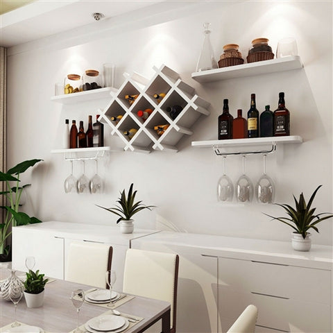 Wine Rack With Storage Shelves - foodgles-supermarkets