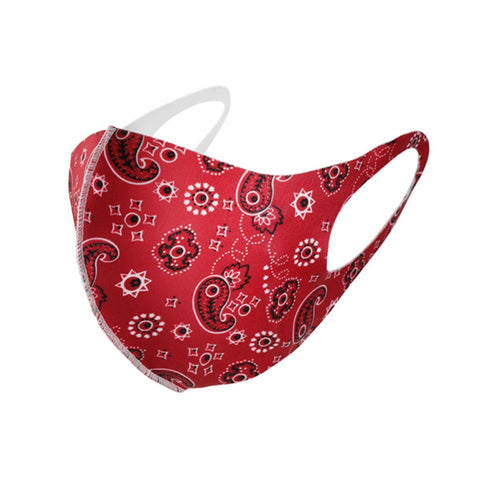 Red Paisley Face Mask - foodgles-supermarkets
