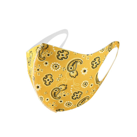 Yellow Paisley Face Mask - foodgles-supermarkets