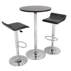 3 Piece Modern Dining Set with Bistro Table and Two Stools - foodgles-supermarkets