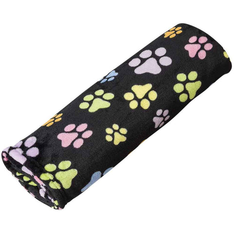 Fleece Paw Print Pet Blanket - foodgles-supermarkets