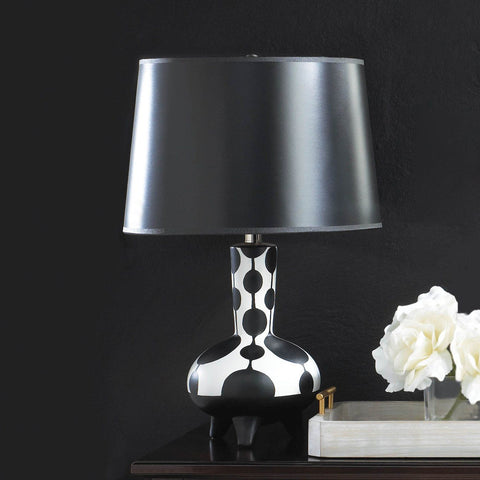 Chic Modern Black & White Table Lamp - foodgles-supermarkets