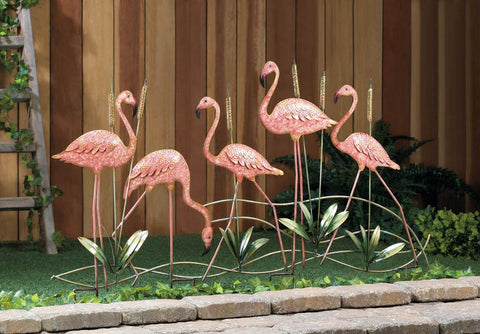 Flock O' Flamingos Garden Sculpture - foodgles-supermarkets